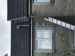 Freesat dish on a mast